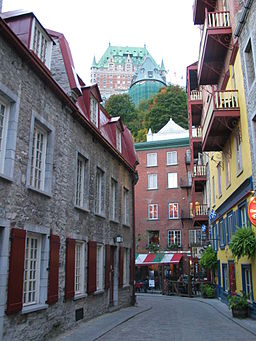 Narrow streets of the Lower Town of Quebec City