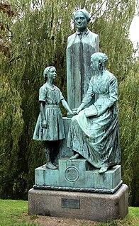 Natalie Zahle Memorial Statue of Anders Sandøe Ørsted in Copenhagen, Denmark