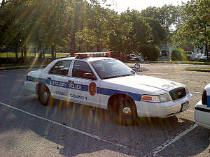 Wantagh, New York -  A Nassau County Auxiliary Police car