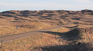 Sandhills (Nebraska) - Sandhills in Hooker County, near sunset in October