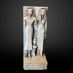 Nebséni, supérieur de l'étable royale, son épouse Baket et leur fils