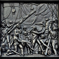 Nelson's column - Death of Nelson at Trafalgar.JPG