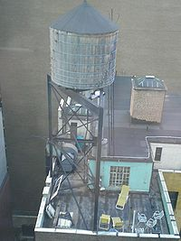 Water towers are ubiquitous in the New York City skyline