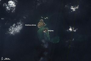 Nishinoshima (Ogasawara) - New island on 8 December 2013