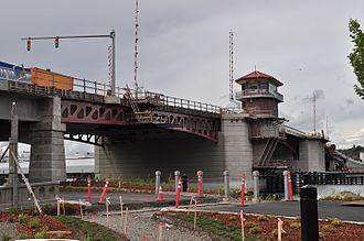 South Park, Seattle - Bridge during construction, 2014