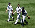 New York Yankees pitcher AJ Burnett comes in from the bullpen (4755825991).jpg