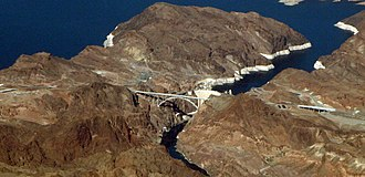 Mike O'Callaghan–Pat Tillman Memorial Bridge - New bridge and bypass highway at Hoover Dam.