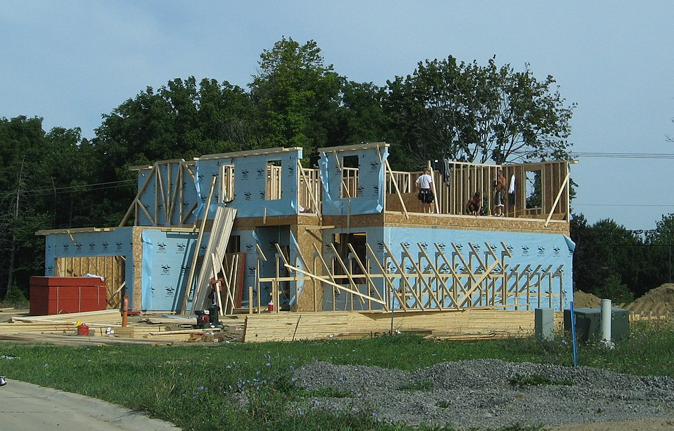 New house under construction Pittsfield Township Michigan
