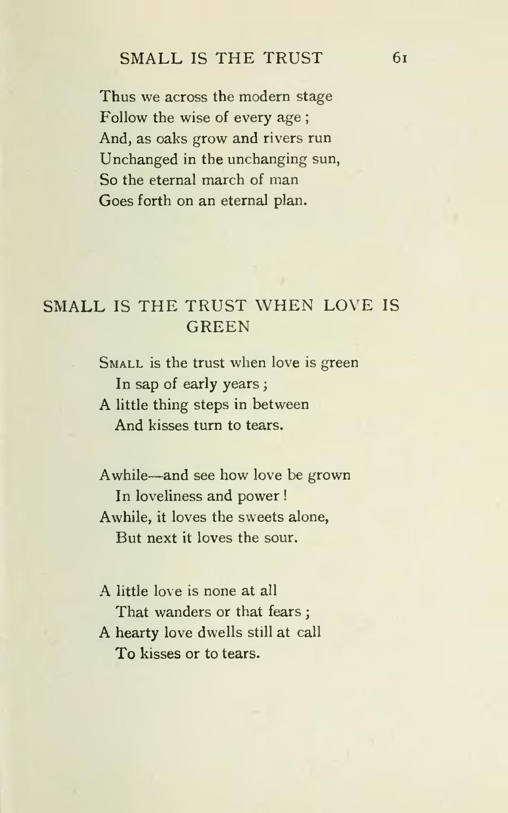 poems about trust and love