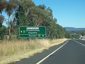 Newell Highway - Image: Newell oxley hwys jctn