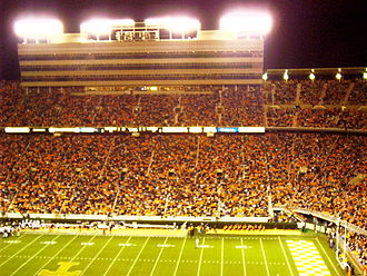 Neyland Stadium - Neyland at night. This picture was taken at the UT-South Carolina game in October 2005.