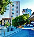 Nicosia financial destrict from Solomos Square bus station.jpg