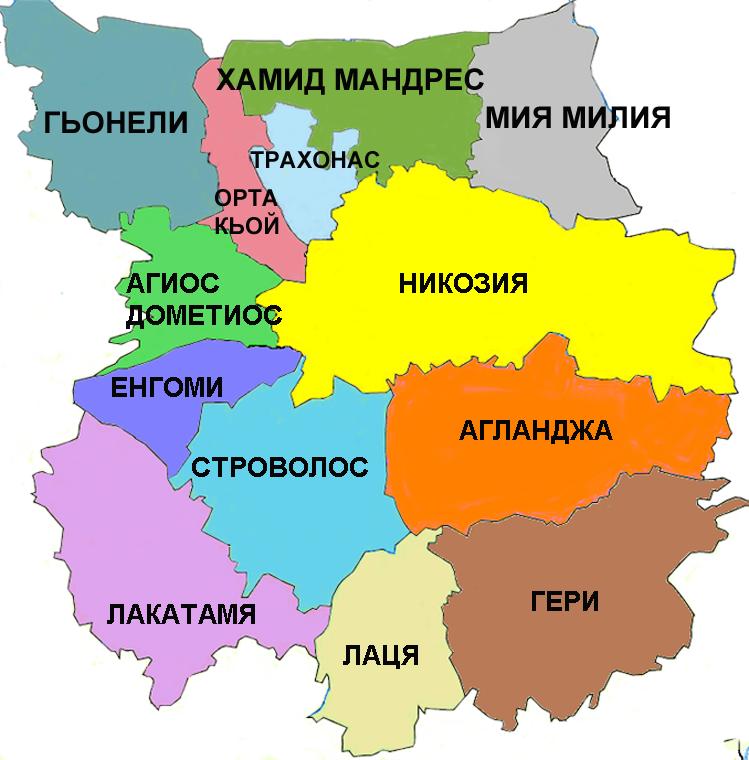 Nicosia local government units