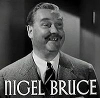 Nigel Bruce elokuvan The Last of Mrs Cheyney (1937) trailerissa.