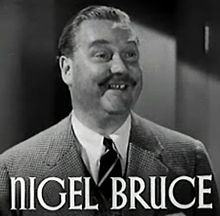 L'actor britanico Nigel Bruce, en una scena d'a cinta The Last of Mrs. Cheyney (1937).