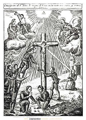 Holy Child of La Guardia - An engraving with the martyrdom of the Holy Child of La Guardia