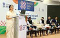 "Nirmala Sitharaman addressing the gathering during the conference titled ""India as a Sourcing hub and Investment destination"", at Textiles India 2017, in Gandhinagar, Gujarat.jpg"