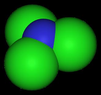 Nitrogen trichloride - Image: Nitrogen trichloride 3D vd W