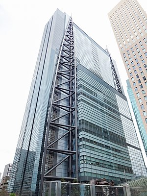 Nippon TV - Nippon Television Tower headquarters in Minato, Tokyo