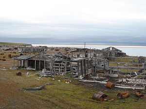 Nordvik, Russia - Abandoned settlement of Nordvik.