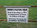 Norris Playing Field sign - geograph.org.uk - 464354.jpg