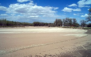 North Platte River - Dry stream channel on the North Platte River in Goshen County, Wyoming during May 2002 drought conditions.