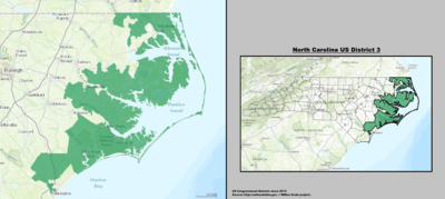 North Carolina's 3rd congressional district - since January 3, 2013.