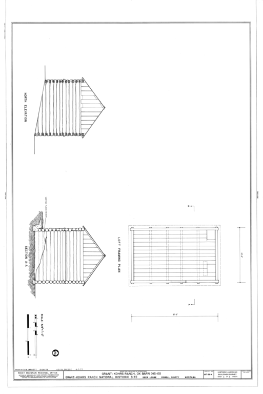 Elevation Plan Wiki : File north elevation loft framing plan and section