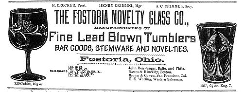 1891 advertisement for glass company