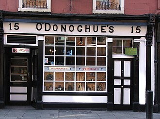 The Dubliners - O'Donoghue's Pub on Merrion Row, Dublin, where the group played regularly in the early 1960s.