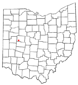 Location of De Graff, Ohio