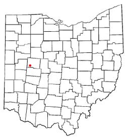 Location of De Graff, Ohio