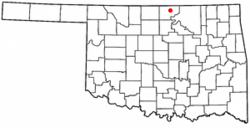 Location of Newkirk within Oklahoma
