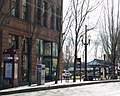 Oak Street and SW 1st MAX stop - Portland, Oregon.JPG