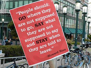 Howard Zinn - Occupy Oakland, November 12, 2011, Howard Zinn quotation
