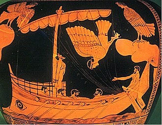 Naples - A scene featuring the siren Parthenope, the mythological founder of Naples