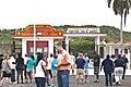 Off duty GIs, on a tour of the Guantanamo base, mingle just inside the gate to Cuba -a.jpg