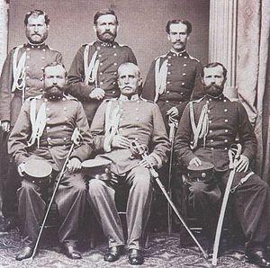 Gendarmery (Serbia) - Serbian gendarmery officers, 1865