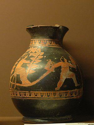 Oenochoe - Image: Oinoche Anthesteria Louvre L71