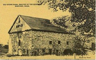 Harvard, Massachusetts - Old Stone Barn (c.1915), in Harvard Shaker Village