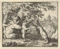 On Order of the Lion, a Piece of Skin is Taken from the Bear, A Piece of the Front Paws of the Wolf and a Piece from the She-Wolf's Hind Paws are Skinned from Hendrick van Alcmar's Renard The Fox MET DP837721.jpg