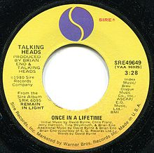 A-side label of US vinyl single