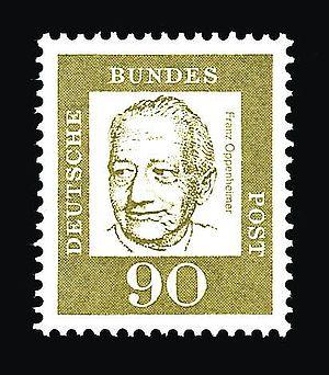 Franz Oppenheimer - Image: Oppenheimer Franz stamp