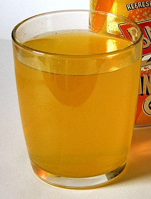Orange soft drink - A glass of Barr orangeade