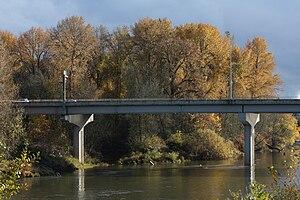 U.S. Route 20 in Oregon - Bridge over the Willamette River in Corvallis, Oregon