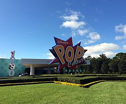 Orlando - Disney World - Disney's Pop Century Resort - Entrance Sign (17031505538).jpg