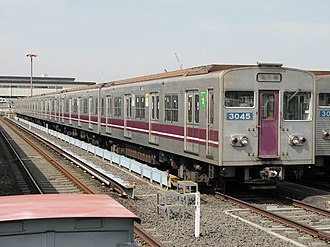 Tanimachi Line - Image: Osaka subway 30 series 3045 20060310