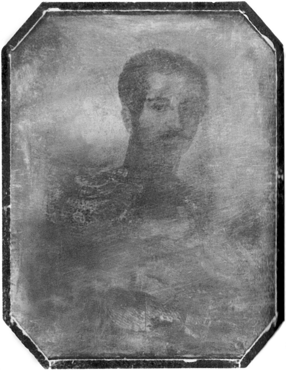 Oscar I of Sweden (Daguerreotype restored)