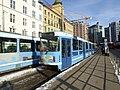 Oslo tram line 12 at Jernbanetorget 02.jpg