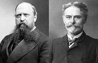 Othniel Charles Marsh & Edward Drinker Cope bw.jpg